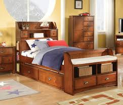 twin bed with storage and bookcase headboard. Brilliant Storage Trendy Brandon Kids Bed With Storage Bookcase Headboard In Antique Oak  Offers A Warm And Cozy Feeling To Your Kidsu0027 Room With Bookcase St Twin And S
