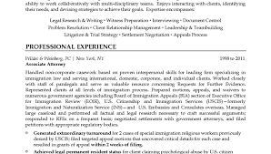 Immigration Attorney Resume Example Associate Lawyer Resume Sample