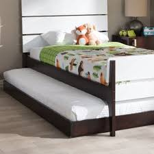 platform bed with trundle. Wonderful Trundle Pougkeepsie Modern And Contemporary Twin Platform Bed Trundle With L