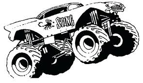 Printable Coloring Pages Monster Trucks Truck Page Transportation