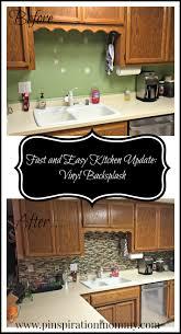Easy Kitchen Update Vinyl Tile Backsplash Quick And Easy Kitchen Upgrade