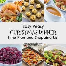 Easter dinner ideas without ham (or lamb). Easy Peasy Christmas Dinner Time Plan And Shopping List Easy Peasy Foodie