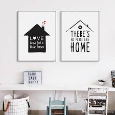 Quotes About Houses Best Black White Nordic Minimalist Houses Love Quotes A100 Canvas Art 59