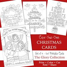 Alternatively adults can send these to. Christmas Glory Coloring Cards 5x7 Jesus Is The Etsy