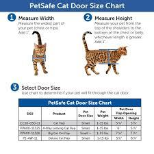 Cat Height Chart Petsafe 6 1 4 In X 5 1 2 In 4 Way Locking With Tunnel Cat Pet Door