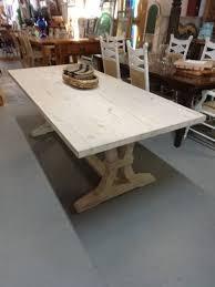 white washed pine furniture. White Wash Pine Table W/ Fluted Trestle Base 30.5x84x38 White Washed Pine Furniture