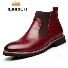 HEINRICH Luxury Fashion <b>Men's Chelsea</b> Boots British Style <b>Men's</b> ...