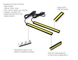 cob led bar for under vehicle lighting discount 2 pack light bar lighting strip 24 volt cob led