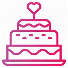 Bakery Birthday Cake Candles Wedding Cake Icon