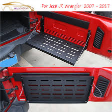 jeep wrangler 4 door interior. wisengear rear interior door cargo shelf storage luggage holder tail carrier table for jeep wrangler 4