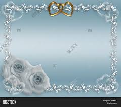 Blue Satin Wedding Roses Gold Image Photo Bigstock