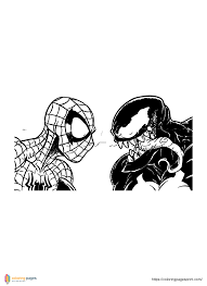 Venom printable coloring pages, this is a free coloring pages to download and print. Spiderman Vs Venom Coloring Pages Print