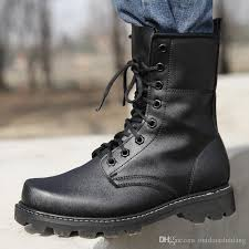 2019 special forces combat boots winter england style fashionable black leather tactical boots men s desert outdoor hiking training boots from