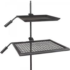 campfire heavy cooking grate griddle swivel adjustable park grill bbq