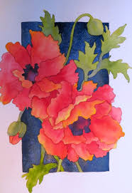 follow along with me in this step by step project painting some red poppies that really pop