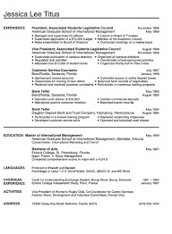 Job Resume Examples For College Students Best Graduate School Sample Resume Templates