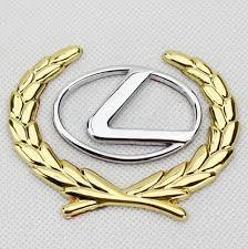 gold lexus logo. Exellent Logo Auto Car 3D For Lexus Luxury Gold Wheat Side Mark Emblem Ornaments  Car Cover And Logo L