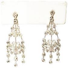 diamond chandelier earrings 14kt white gold