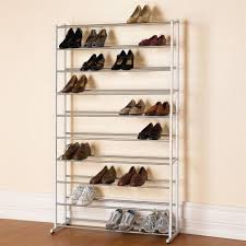 interior, Bewitching Room With Elegant Cheap Shoe Storage Made Of Stainless  Steel Material In High