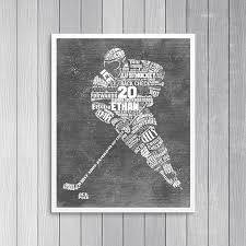 neat design hockey wall art home decor ideas personalized hockey gift coach decals canada canvas stick magnet