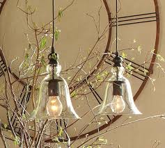 Pottery Barn Kitchen Lighting Rustic Glass Pendant Small Pottery Barn Au