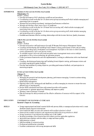 Sample Resume For Accounting Manager Fund Accounting Manager Resume Samples Velvet Jobs