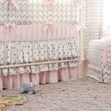 baby nursery medium size pink and gray chevron crib bedding carousel designs baby girl nursery