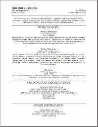 Welder Resume Examples Gorgeous Mig Welder Resume Sample New Welder Fabricator Resume Sample Best