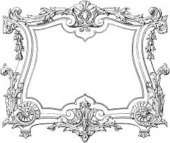 French Decorative Designs Fabulous Decorative French Frame Image The Graphics Fairy 2