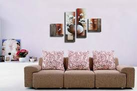 wieco art 4 piece elegant flowers stretched and framed hand painted modern canvas wall art on 4 piece canvas wall art with wieco art 4 piece elegant flowers stretched and framed hand painted
