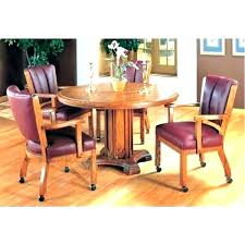 rolling dining chairs. Dining Set With Caster Chairs Rolling Chair 5 . L