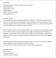 Sample Notice To Landlord Neerja Co