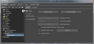 motionbuilder help help creating collision effects physics solver setup pane a click online