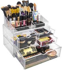 sorbus acrylic cosmetics makeup and jewelry storage case x large display sets interlocking scoop drawers to create your own specially designed makeup