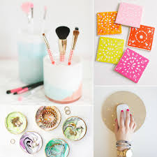 find a mason jar pot box etc and paint it glitter it to completely transform wver you are diy ing