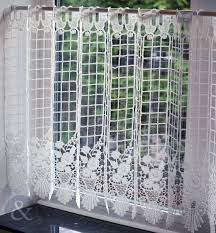 Kitchen Window Curtain Panels Cafe Net Curtains Natural White Kitchen Nets Macrame Ready Made