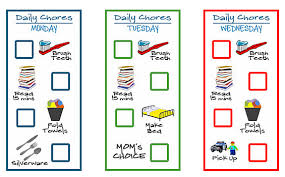Printable Chore Chart For 5 Year Old 5 Free Printable Chore Charts For Kids Money Saving Mom