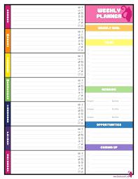 Free Printable Weekly Planner With Time Slots Printable Weekly Calendar Noshot Info