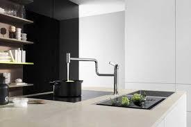 New Kitchen Faucet Rotates 40 Degrees Improving Modern Kitchen Gorgeous Kitchen Faucet Design