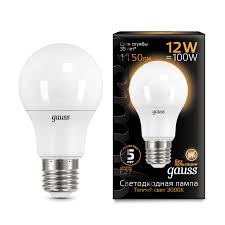 <b>Лампа Gauss LED A60</b> globe 12W E27 3000K - Gauss ...