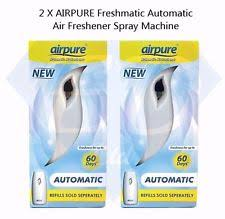 office air freshener. 2 x airpure freshmatic automatic air freshener spray machine office home e