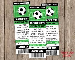 Soccer Party Invitations Soccer Party Invitation Soccer Ticket Invitation Soccer Etsy