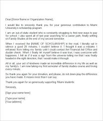 Scholarship Donor Thank You Letter - Kleo.beachfix.co