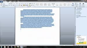 How To Format A Word Document 1 You Tube Youtube