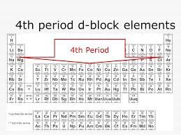 4th period d-block elements 4th Period. d-block elements  center ...