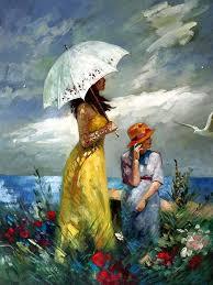 oil paintings on canvas maternal wisdom v