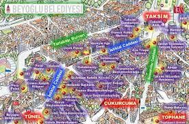 Image result for beyoğlu haritası