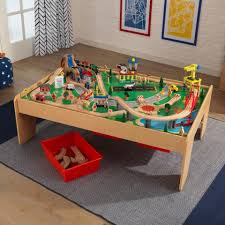 Train Set Table With Drawers Waterfall Mountain Train Table Set Kidkraft