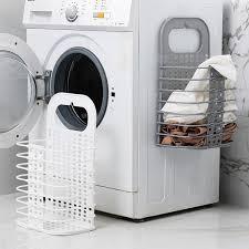 folding hamper bathroom clothes plastic storage basket wall hanging laundry basket newchic