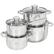 Набор посуды из нержавеющей стали Daniks Стандарт SD-8-2 ...